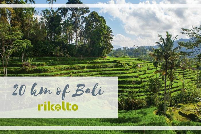 20 km door Bali