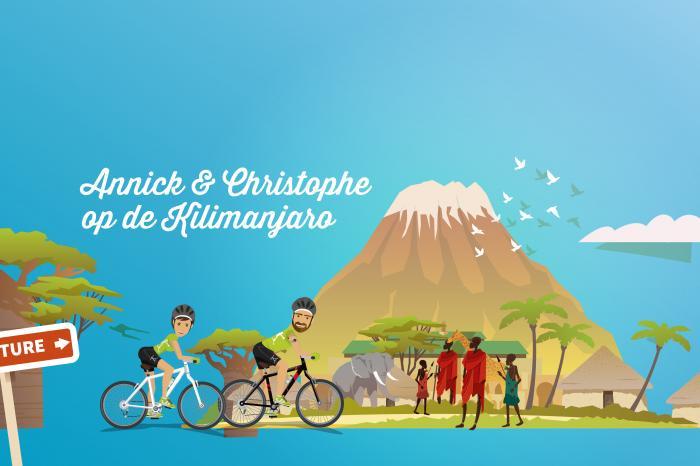 Annick en Christophe op de Kilimanjaro