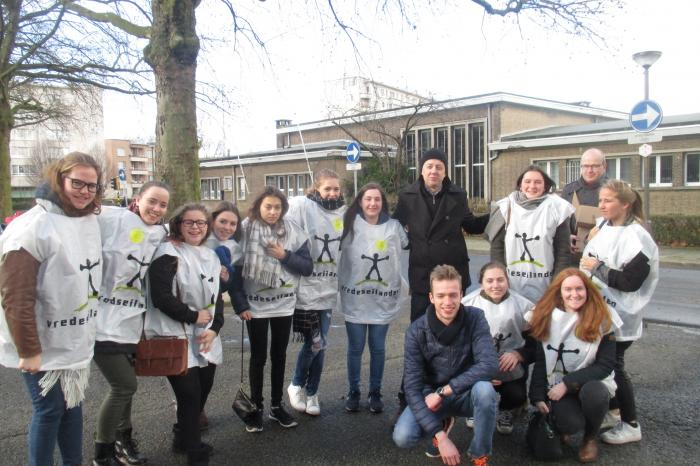 Filip voor Vredeseilanden in Antwerpen